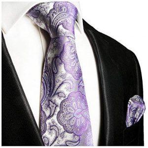 cravate à motif cachemire violet