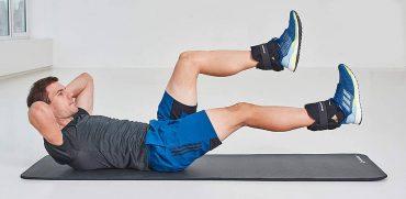 Faire des abdominaux avec des poids à la cheville